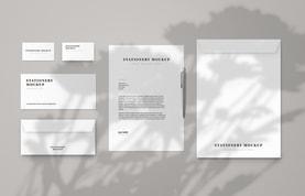 Business Stationery & Envelope Mockup