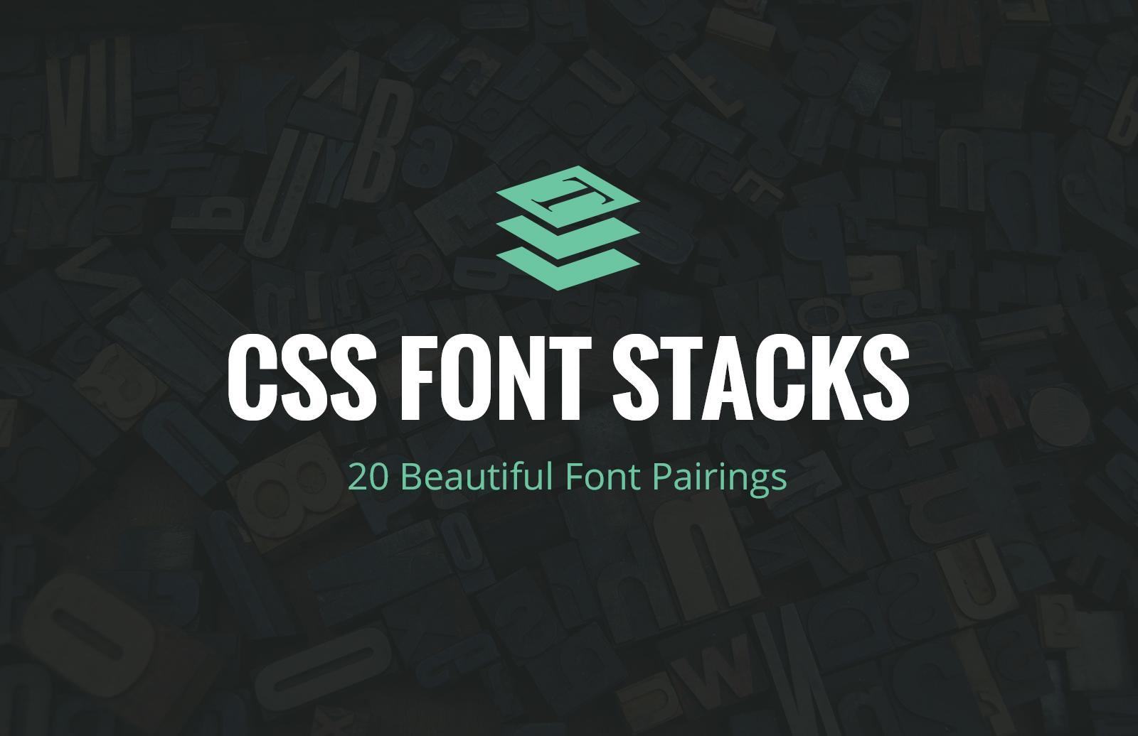 Free CSS Font Stacks