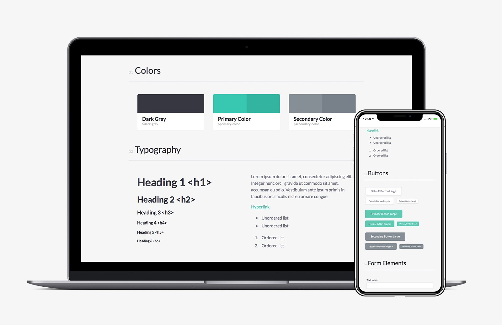 Css Ui Style Guide Preview 1A