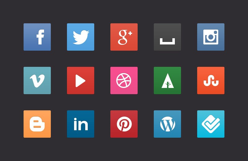 Free CSS3 Social Media Buttons