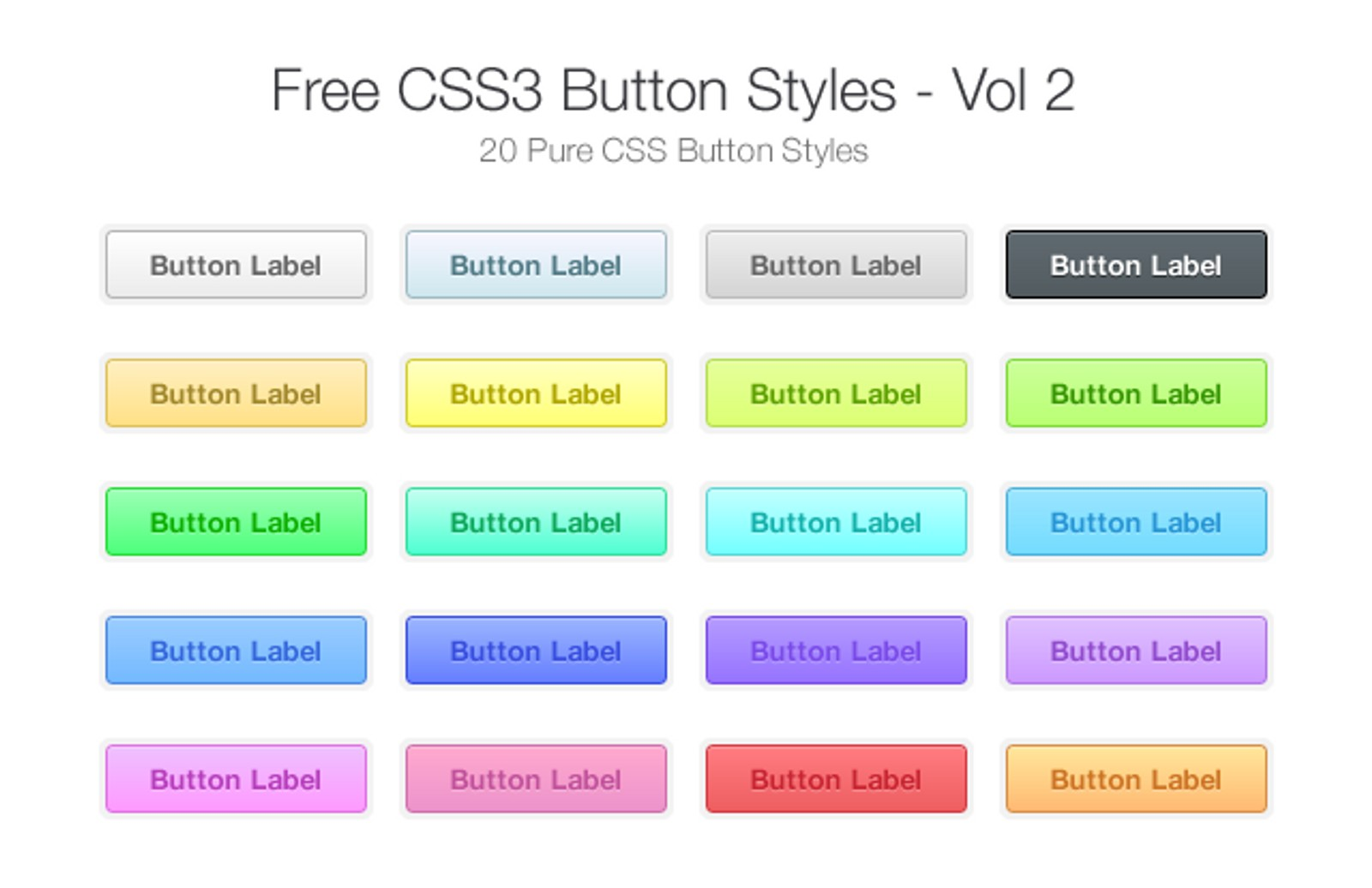 Css3  Button  Styles 2  Preview1