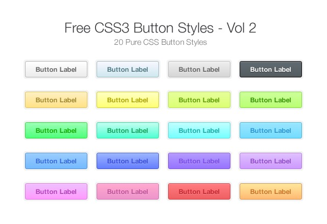 Free CSS3 Button Styles - Vol 2