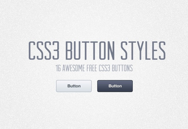Free CSS3 Button Styles