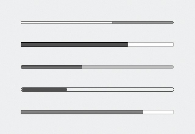 More CSS3 Loading Progress Bars