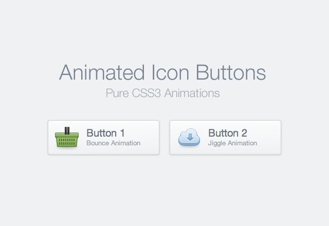 CSS Animated Icon Buttons