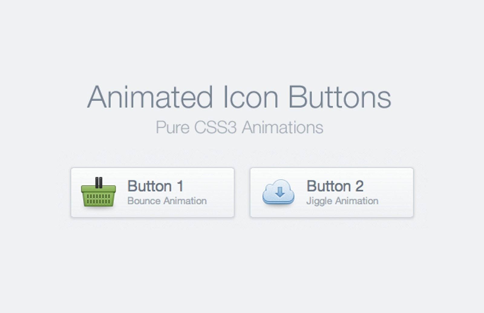 CSS Animated Icon Buttons — Medialoot