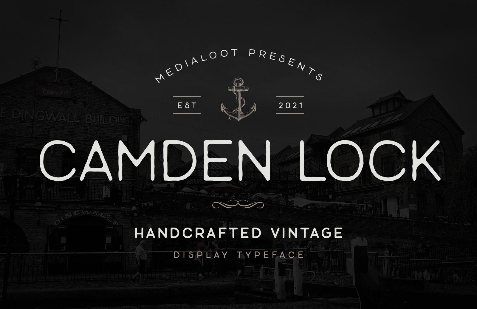 Camden Lock Font Preview 1C