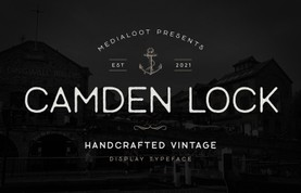 Camden Lock - Vintage Display Font