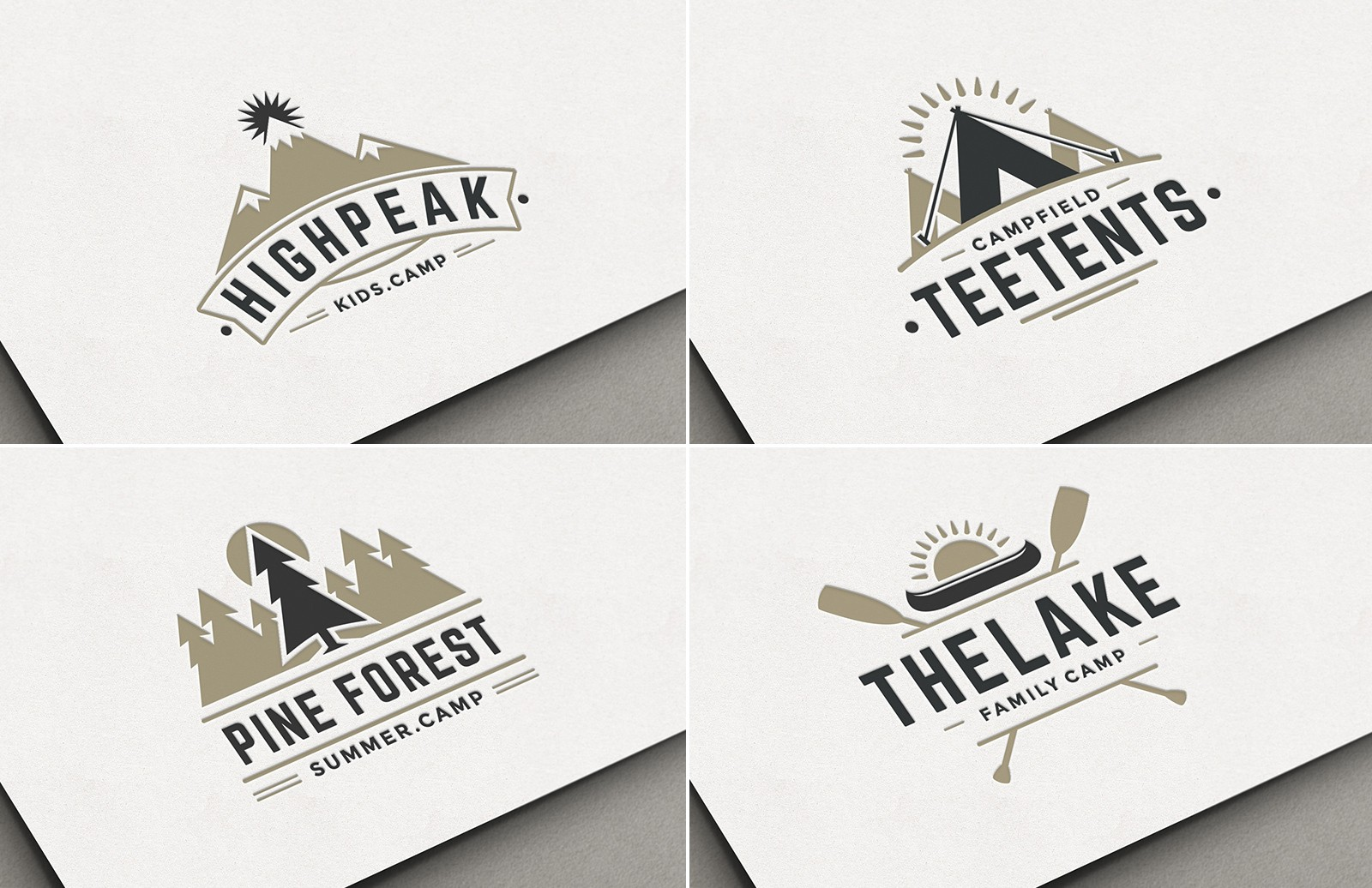 Camp Logo Templates Preview 1