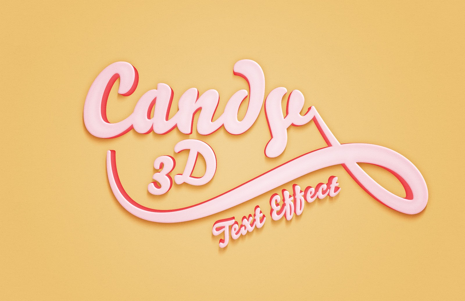 Large Candy 3 D  Text  Effect  Preview 1