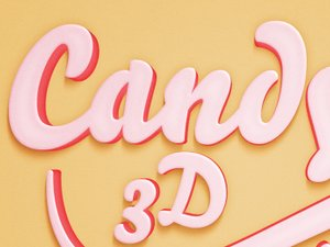 Candy 3D Text Effect 2
