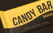 Candy Bar Wrapper Mockup