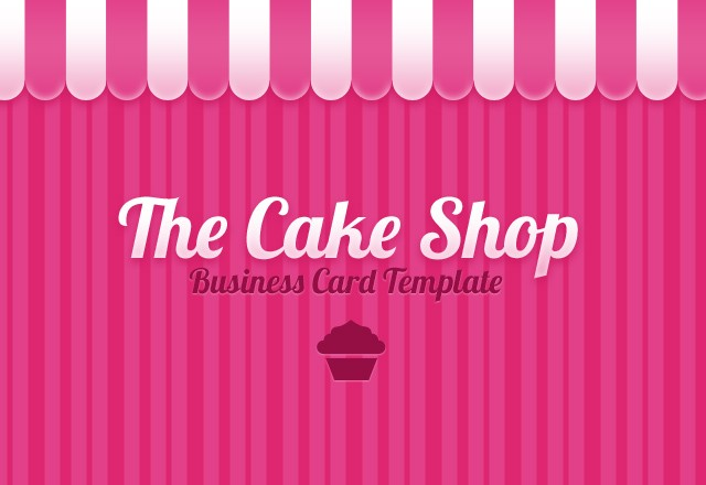 Cake Shop Business Card Template Medialoot