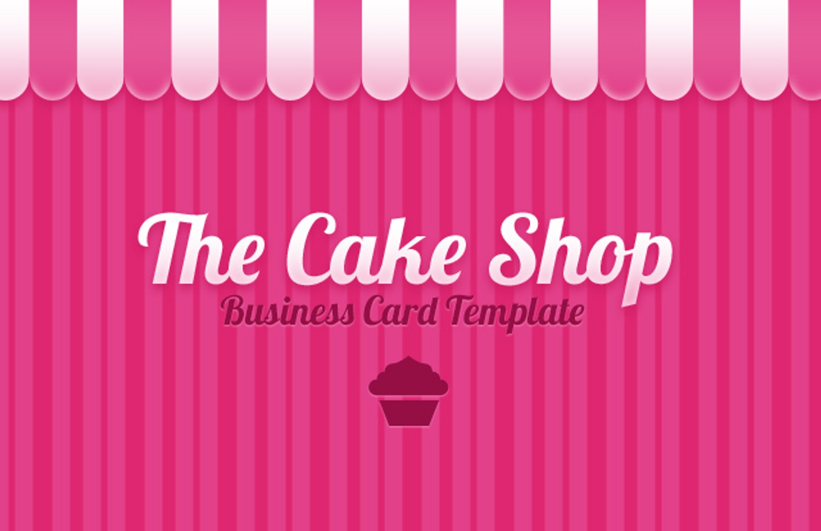 Cake shop business card template medialoot cake shop business card preview1 flashek Choice Image