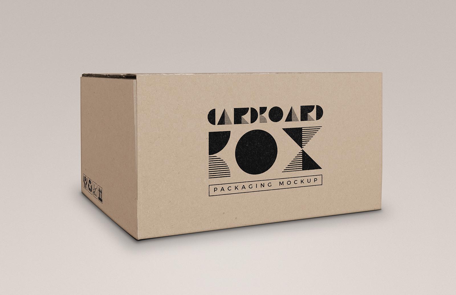Cardboard Box Mockup Preview 1
