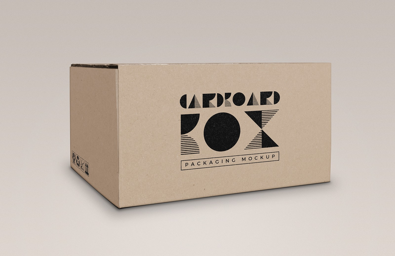 Cardboard Box Packaging Mockup