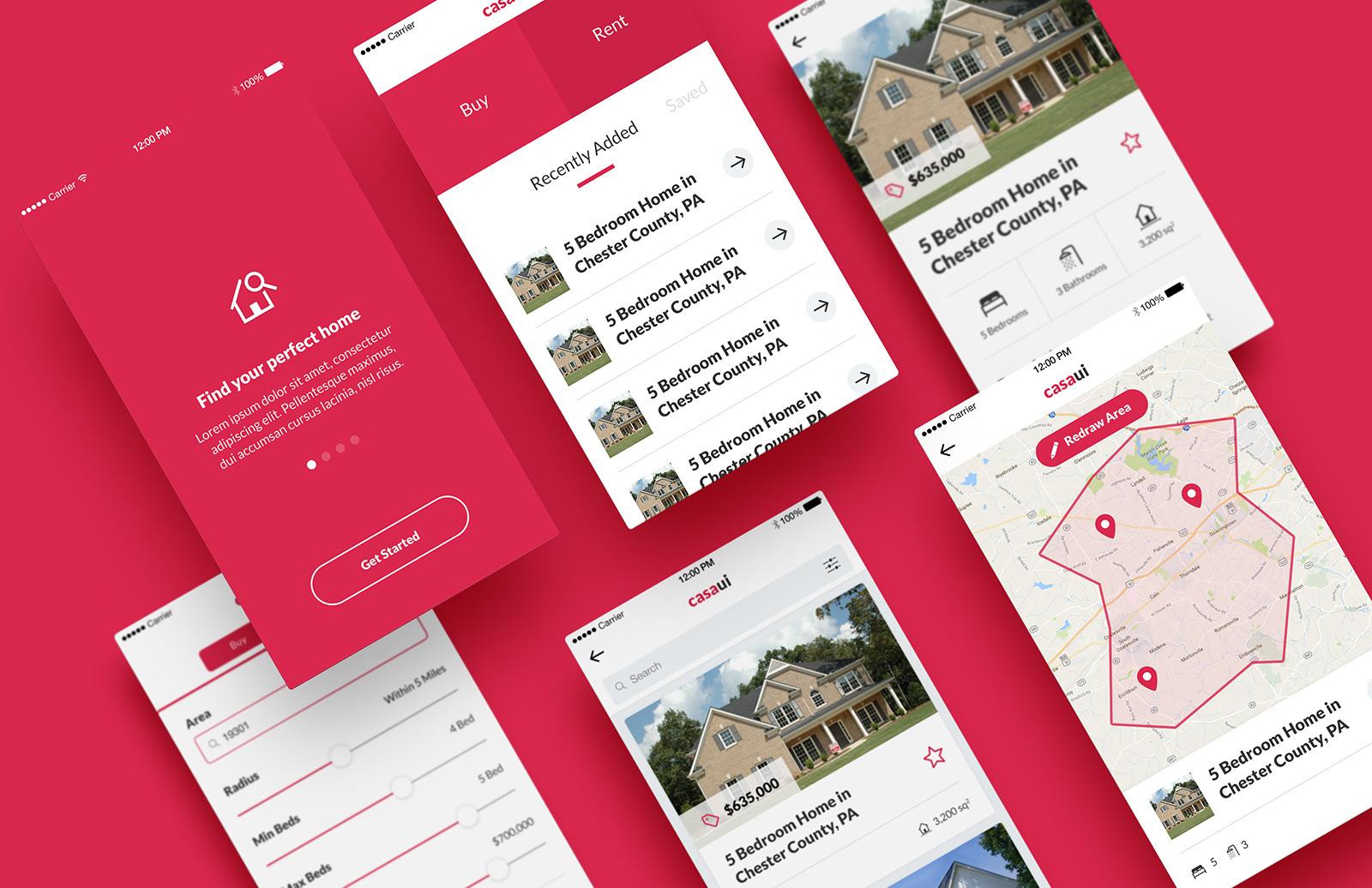 Casa Ui    Mobile  App  Ui  Kit  Preview 1