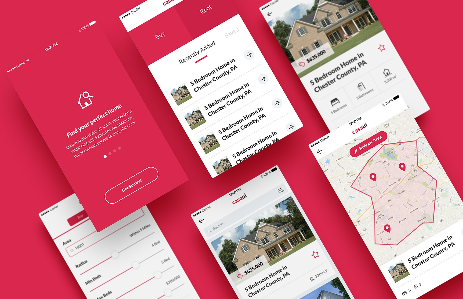 Large Casa Ui    Mobile  App  Ui  Kit  Preview 1