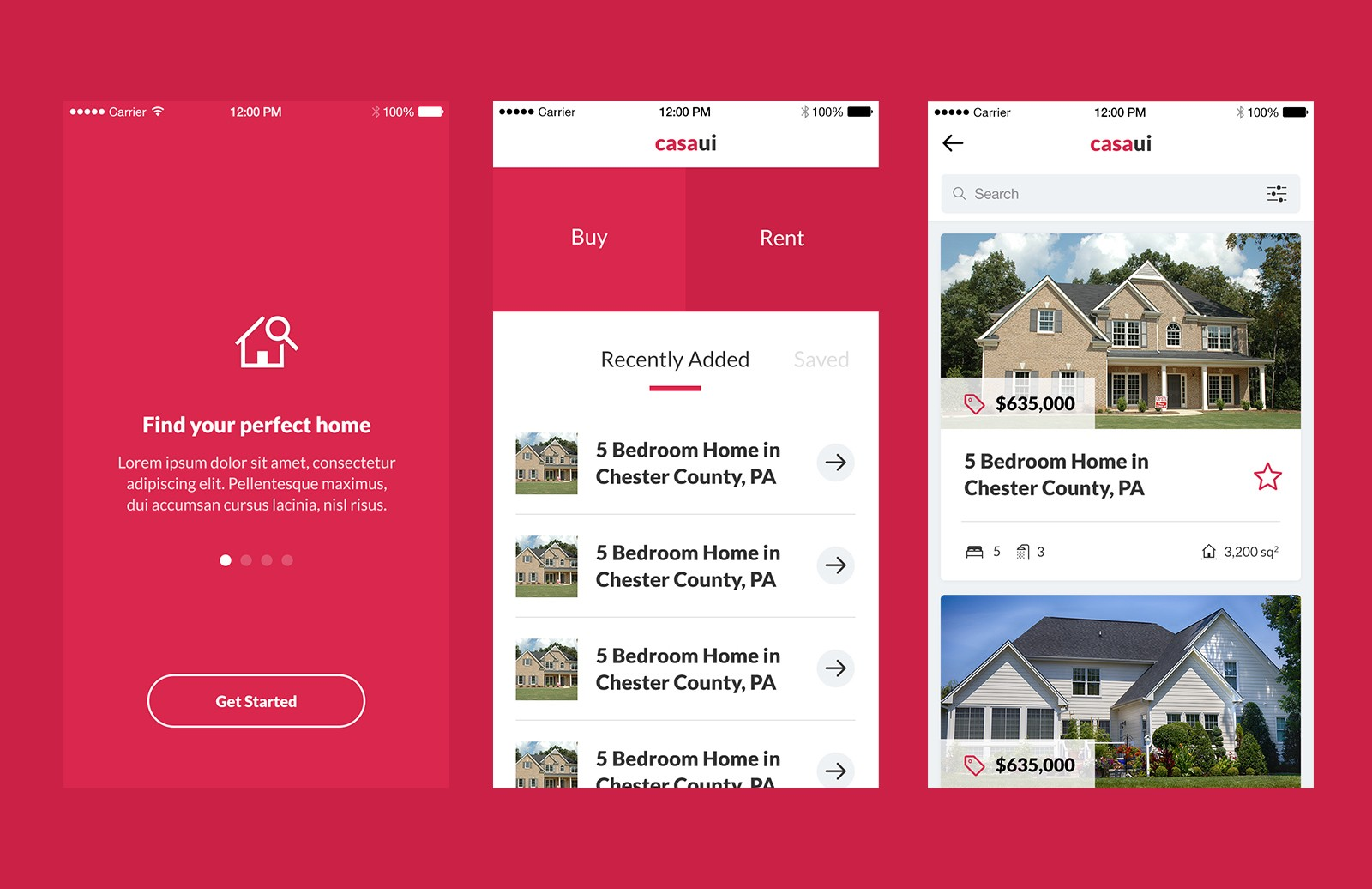 Casa - Property Mobile App UI Kit 2