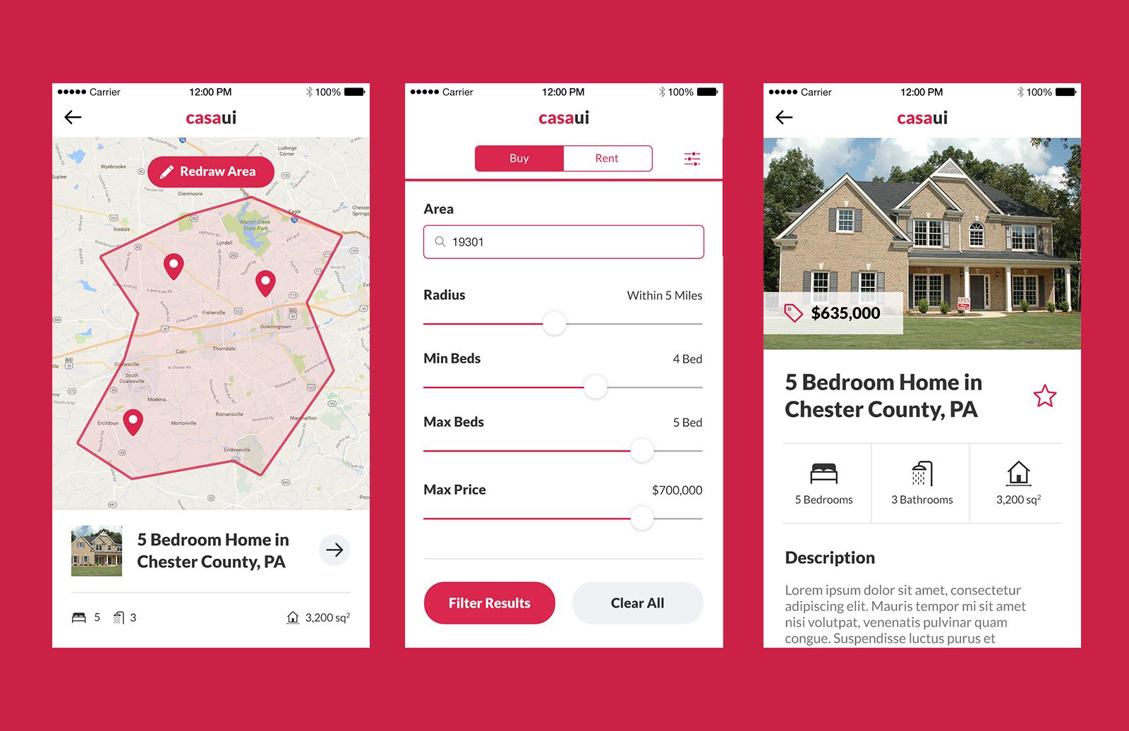 Casa Ui    Mobile  App  Ui  Kit  Preview 3