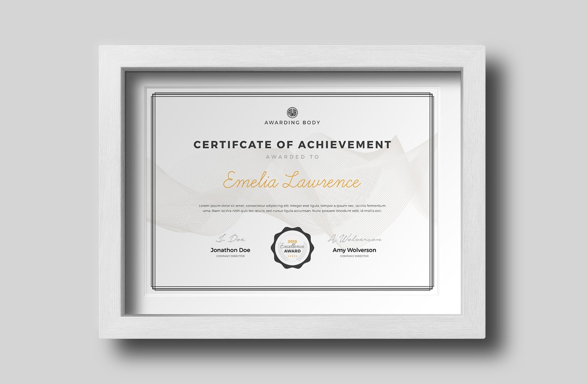 Award Certificate Template For Photoshop Wegraphics