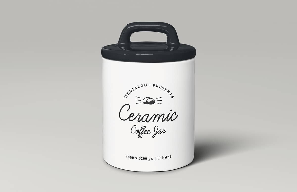 Ceramic Coffee Storage Jar Mockup Preview 1
