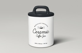 Ceramic Coffee Storage Jar Mockup