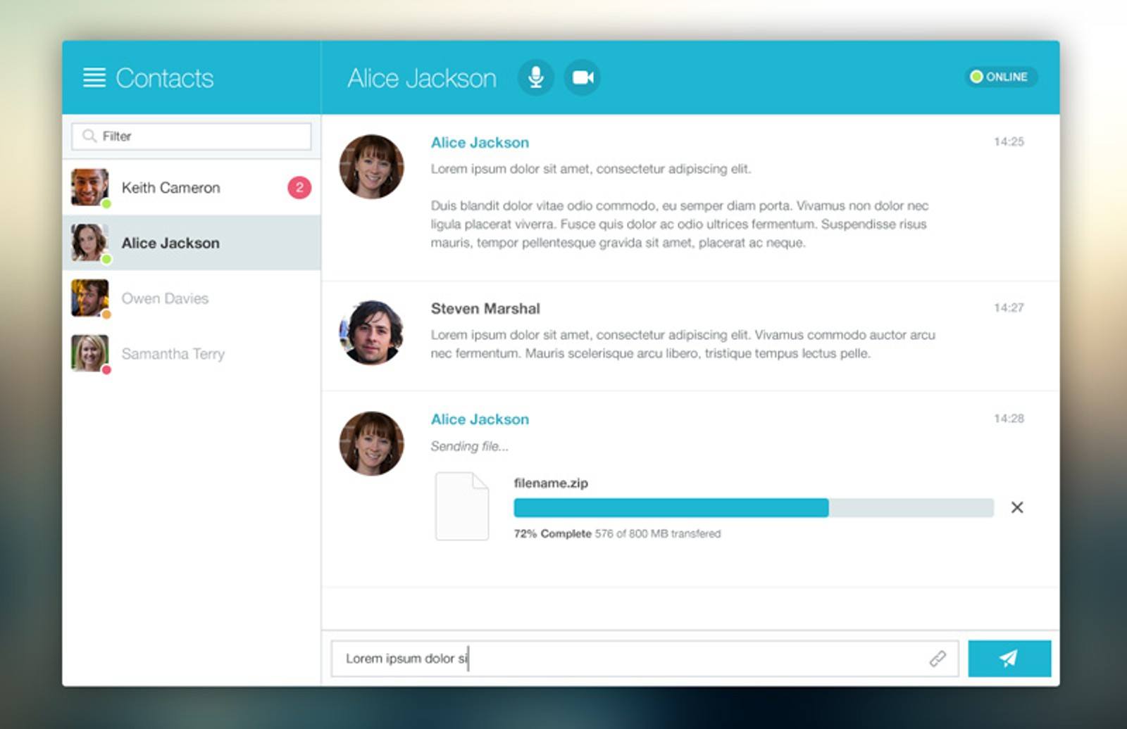 Chat  Window  Ui  Preview 1A