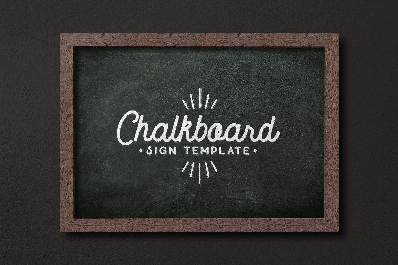 Chalkboard Sign Template 1