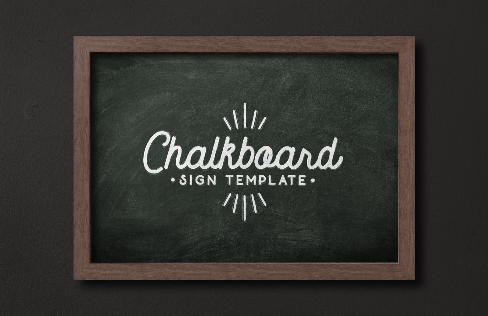 Chalkboard Sign Template Medialoot - Chalkboard sign template