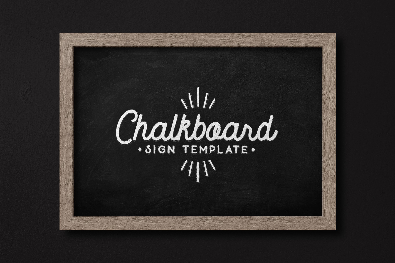 Chalkboard Sign Template 2