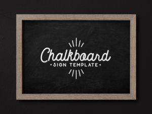 Chalkboard Sign Template 2
