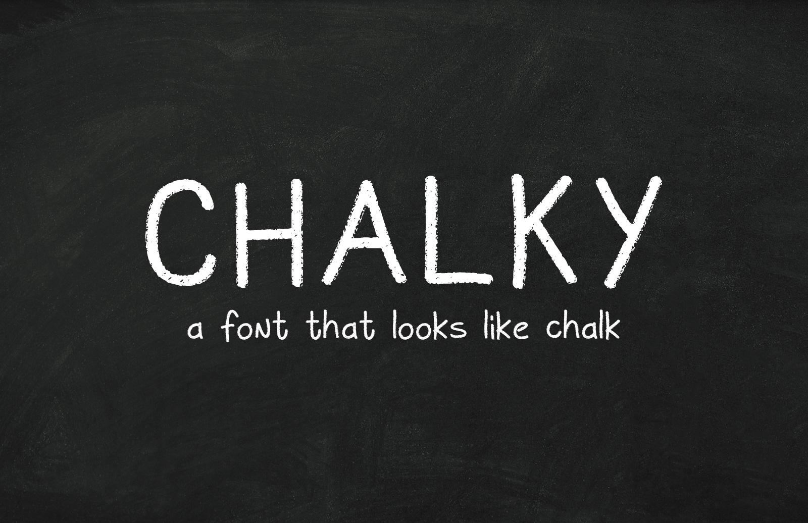 Chalky - Free Chalkboard Font 1