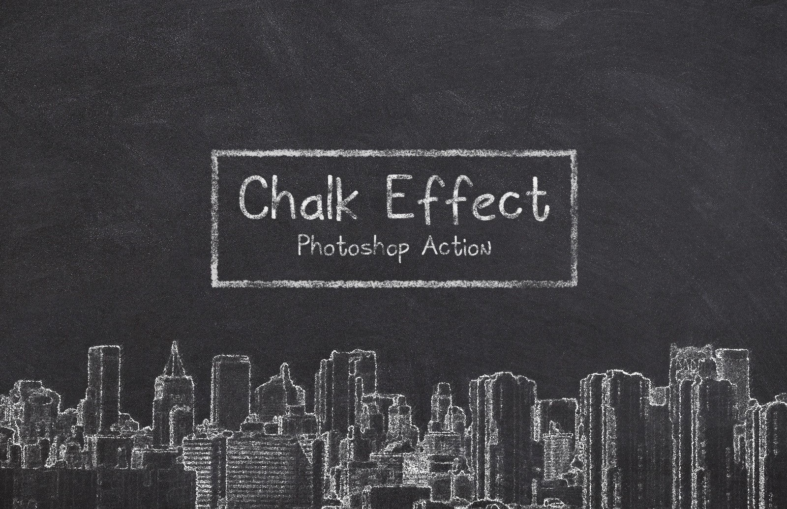Chalk Effect Photoshop Action Preview 1