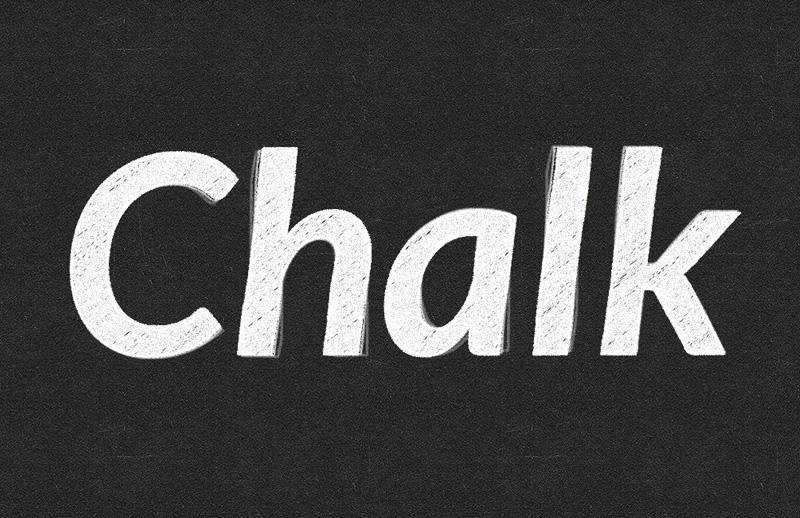 Chalk Text Effects (Psd)