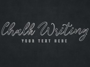 Chalk Writing Text Effect 2