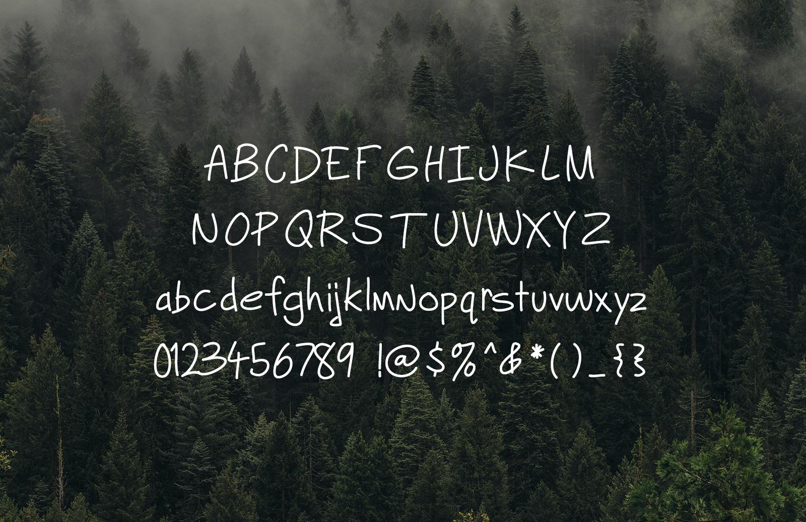 Charlie Hand - Tiny Handwritten Font