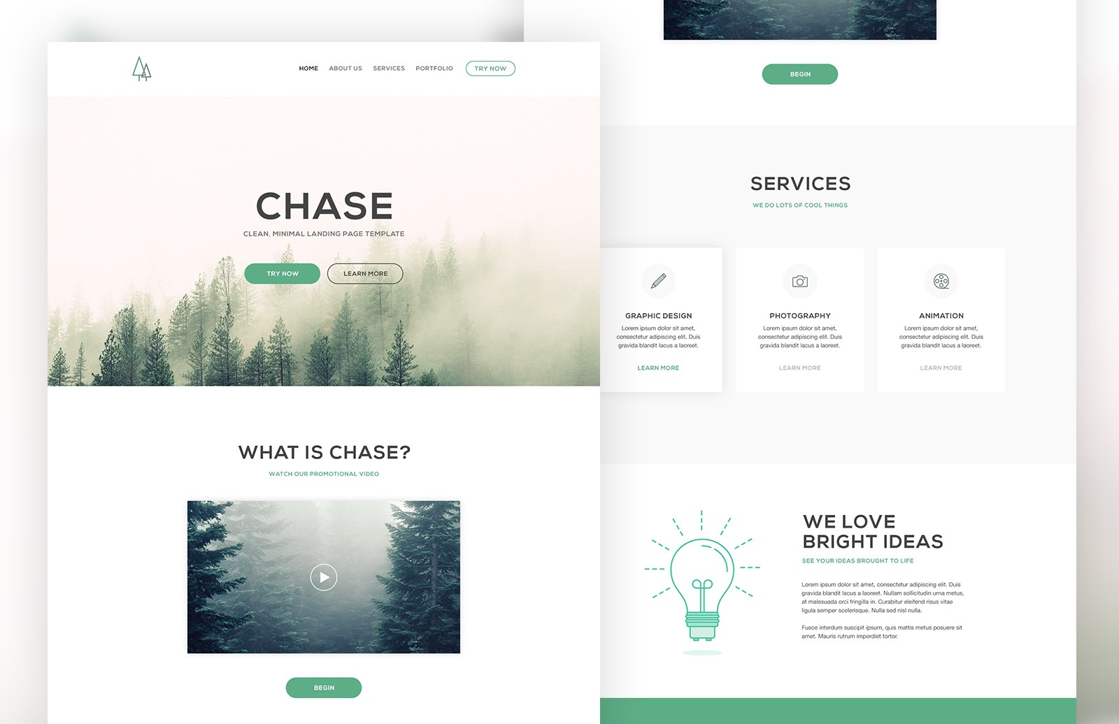 Chase Landing Page Template (PSD/HTML) 2