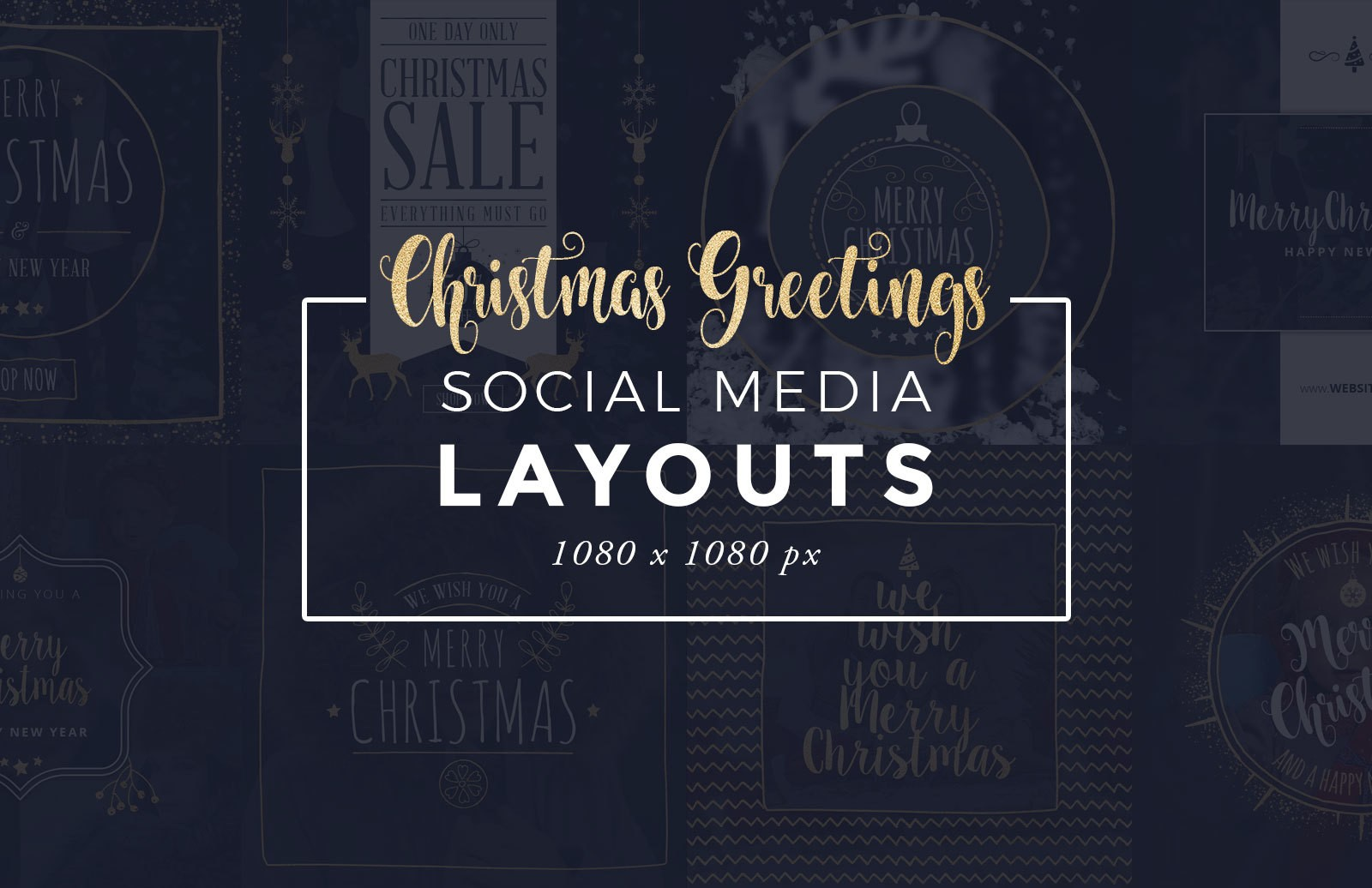 Christmas Greetings Social Media Templates Preview 1D