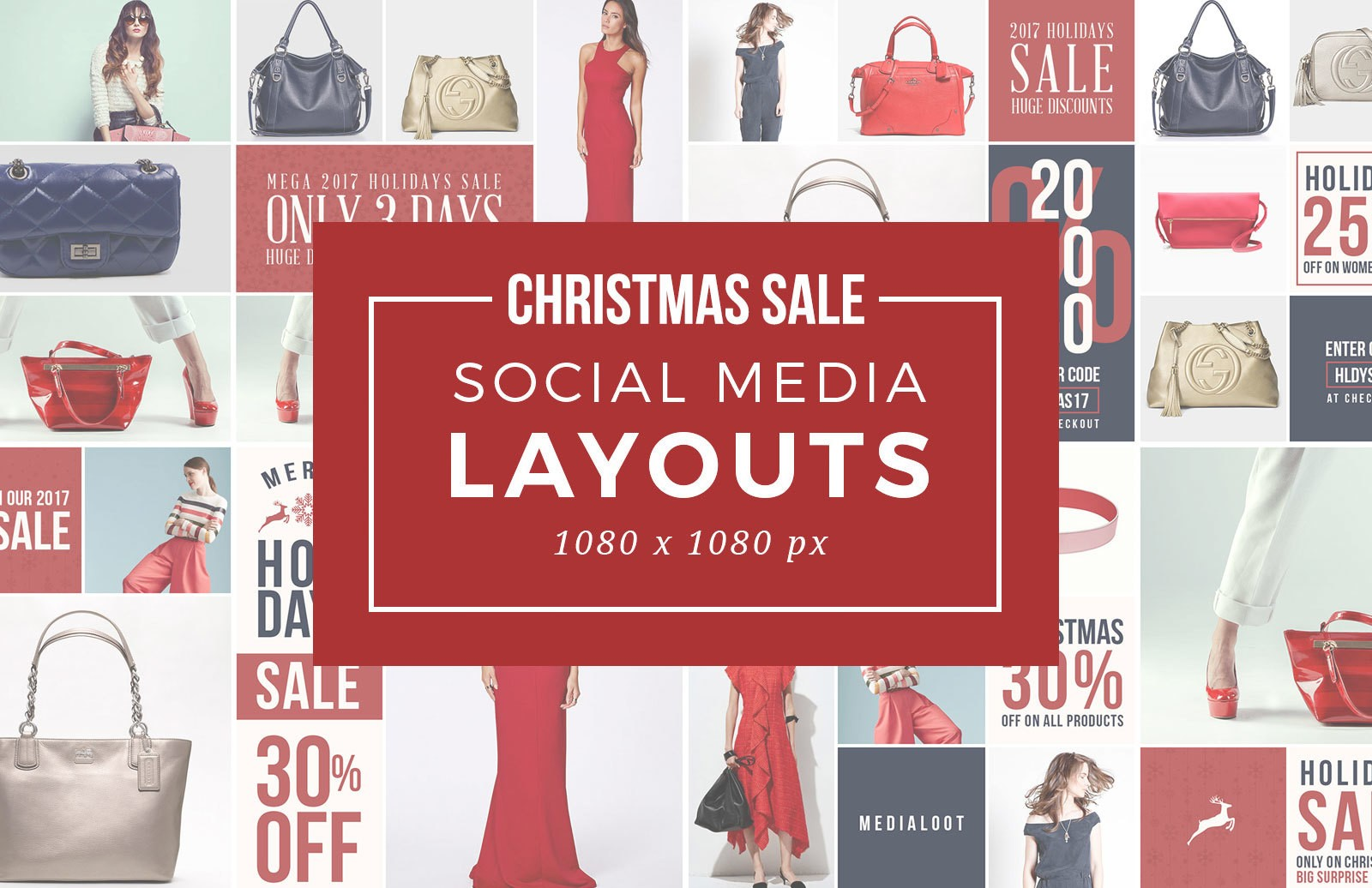 Christmas Sale Social Media Templates Preview 1D