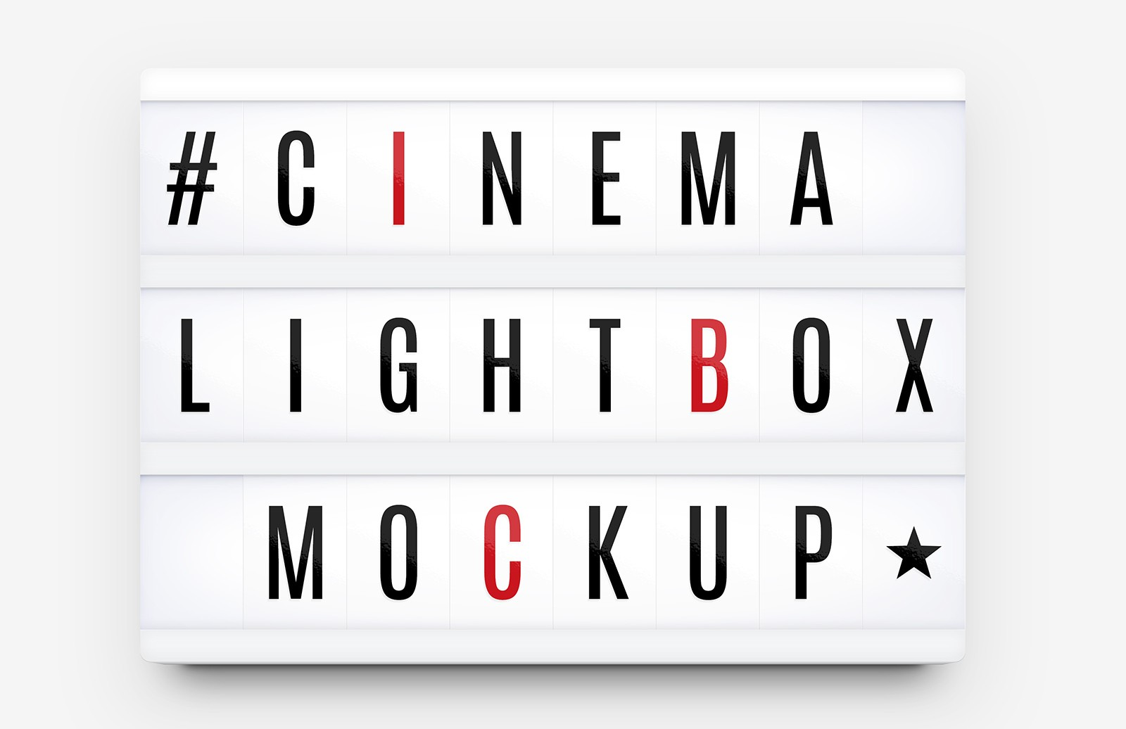 Cinema Lightbox Sign Mockup