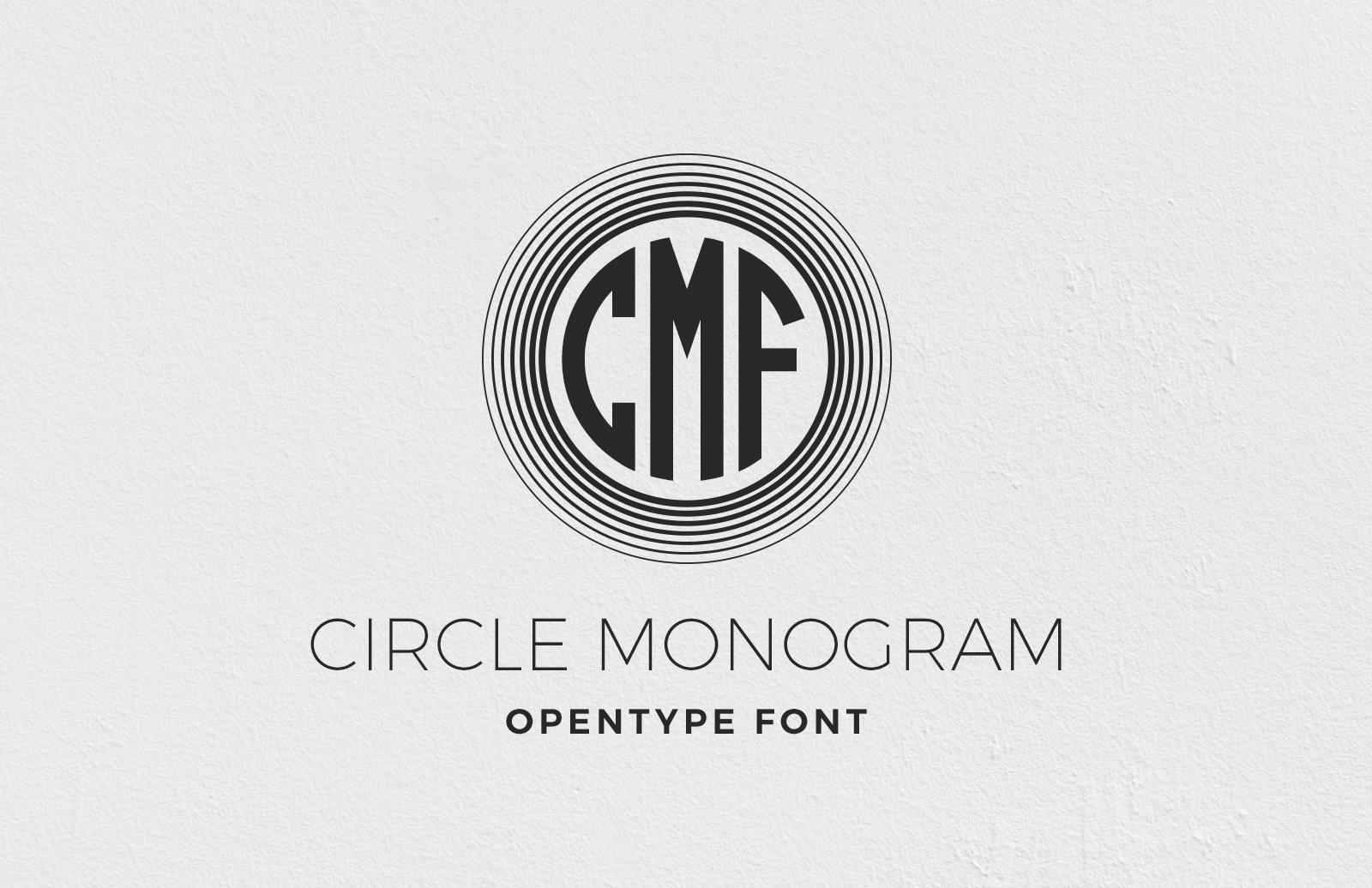 Circle Monogram Font 1