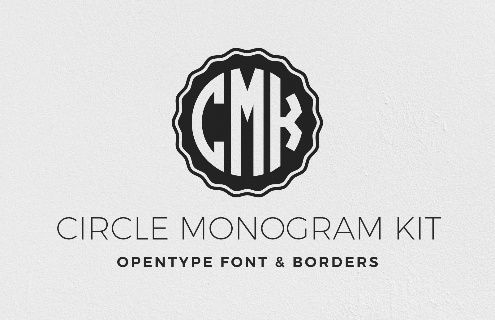 Circle Monogram Font Kit 1
