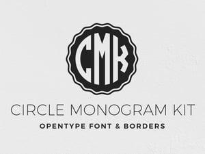 Circle Monogram Font Kit 1