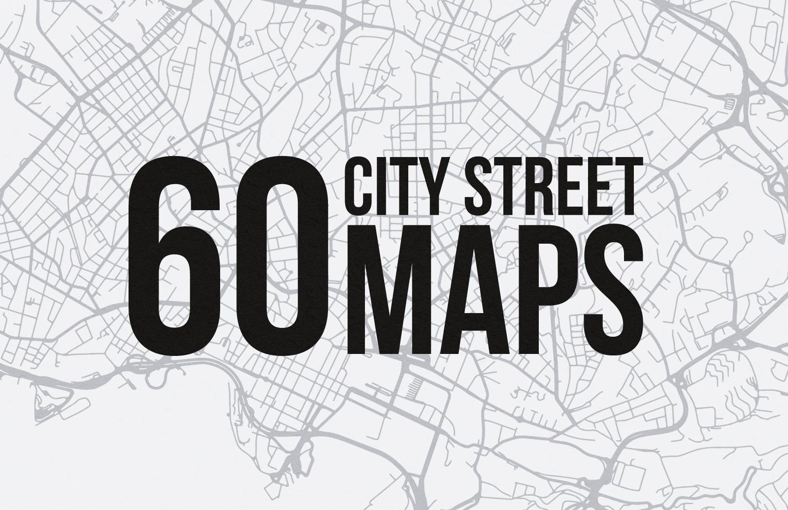 60 Vector City Street Maps (SVG)