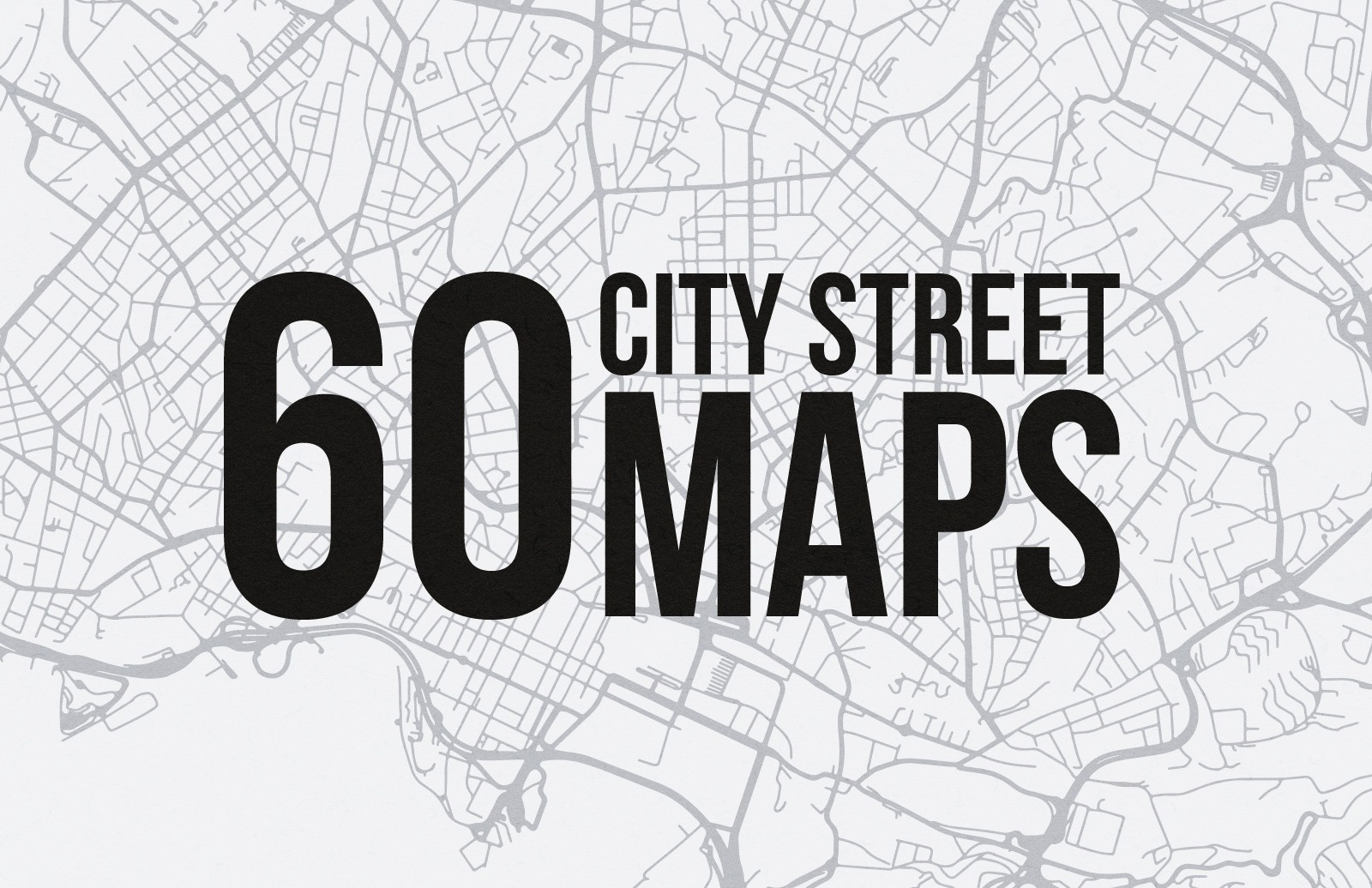 Map 60.60 Vector City Street Maps Svg