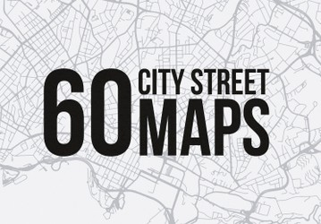 60 Vector City Street Maps (SVG)