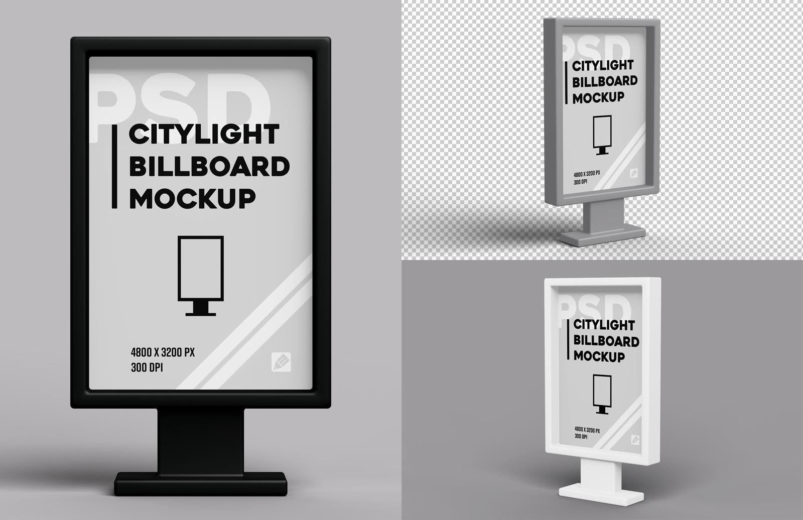 Citylight Billboard Mockup Preview 1