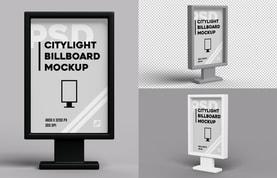 Citylight Billboard Mockup