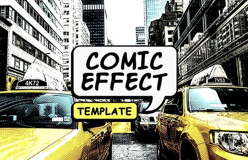 Comic Photo Effect Template